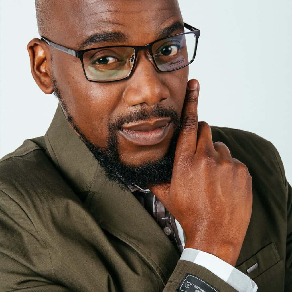 An African businessman wearing Jonathan D glasses